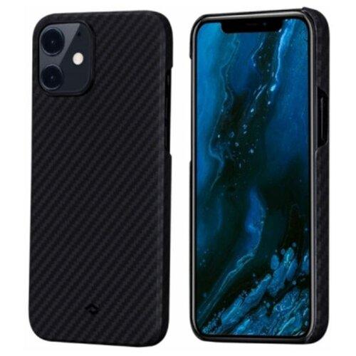 "Чехол PITAKA MagEZ Case для iPhone 12 mini 5.4"" чёрно/серый (полоска)"