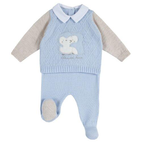 Комплект одежды Chicco размер 56, голубой, Комплекты  - купить со скидкой