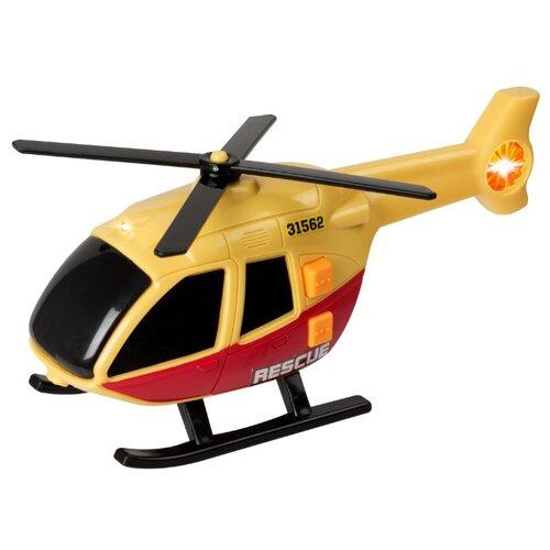 Вертолет Teamsterz 1416560 15 см желтый/красный air hogs вертолет на радиоуправлении roller copter цвет желтый красный