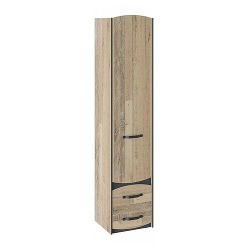 Шкаф-пенал для детской ТриЯ Кристофер ТД-328.07.21, (ШхГхВ): 46.6х43.4х214.1 см, фон серый / олд стайл