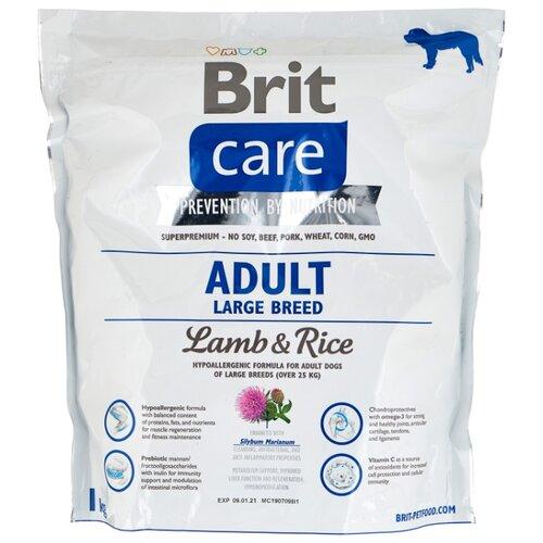 Фото - Сухой корм для собак Brit Care ягненок с рисом 1 кг (для крупных пород) сухой корм для собак brit care ягненок с рисом 18 кг для средних пород