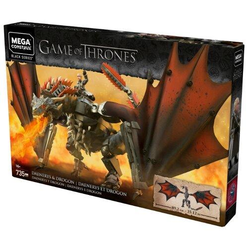 Конструктор Mega Construx Game of Thrones GKG97 Дейенерис и Дрогон