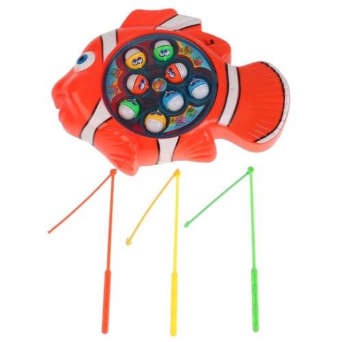 Купить Рыбалка Играем вместе Кот Леопольд B1556345-R красный, Развитие мелкой моторики