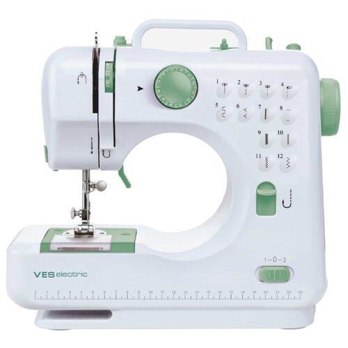Швейная машина VES electric VES 505-W, белый/зеленый чайник ves electric 2100 белый