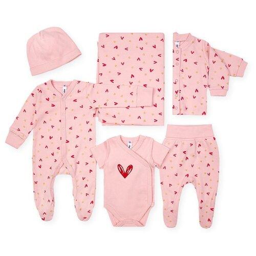 Комплект одежды playToday размер 68, розовый