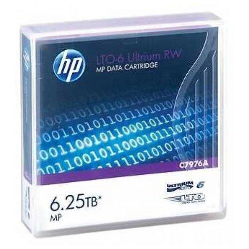 Фото - Магнитная лента незаписанная HPE HP LTO-6 Ultrium 6.25TB RW Data Tape 480гб серверный ssd hpe mixed use 872344 b21