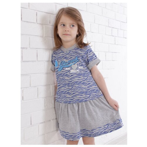 Купить Платье Jewel Style размер 104, меланж/синий, Платья и сарафаны