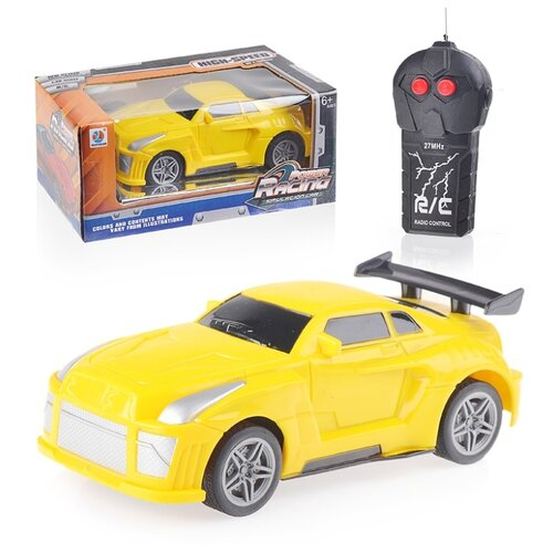 Купить Легковой автомобиль Oubaoloon 069-23 1:28 15.5 см желтый, Радиоуправляемые игрушки