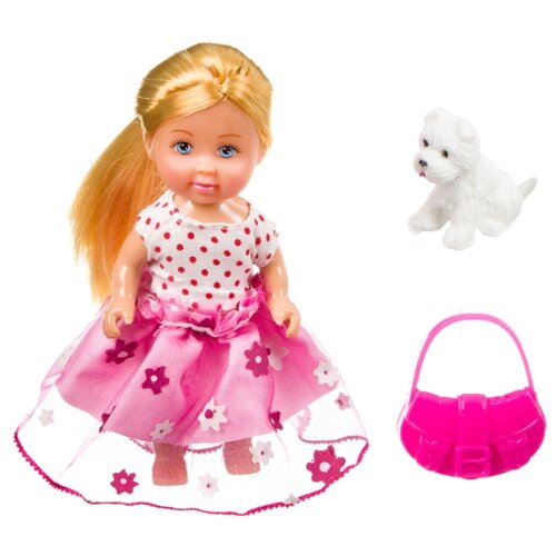Купить Игровой набор Bondibon OLY Куколка с собачкой и сумочкой в прозрачном шаре, 11 см, ВВ3885, Куклы и пупсы