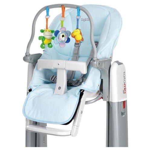 Купить Комплект для стульчика Peg-Perego чехол Kit Tatamia и дуга с игрушками, azzurro, Стульчики для кормления