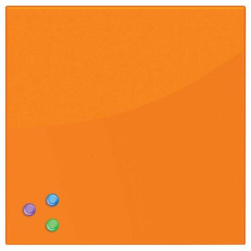 Доска стеклянная магнитно-маркерная BRAUBERG 236735-236743 (45х45 см) оранжевый