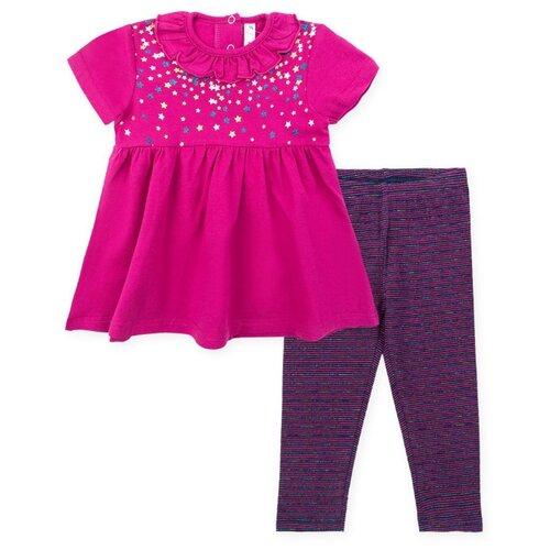 Комплект одежды playToday размер 74, розовый/темно-синий комплект одежды playtoday размер 74 темно синий серый