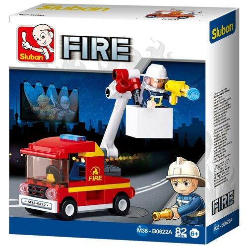 Фото - Конструктор SLUBAN Пожарные спасатели М38-B0622A конструктор свадебный автобус 379дет sluban м38 в0769
