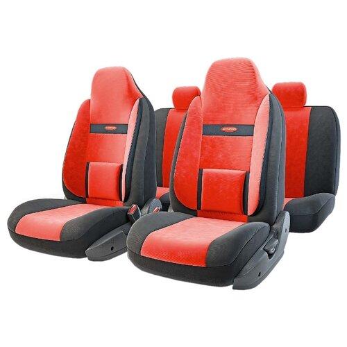 цена на Комплект чехлов AUTOPROFI COM-1105H черный/красный