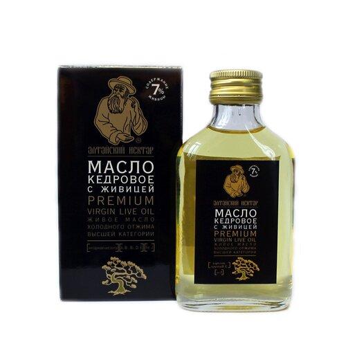 Алтайский нектар масло кедровое Premium с живицей, 0.1 л
