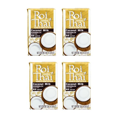 Молоко кокосовое Roi Thai Coconut milk 250 мл, 4 шт.