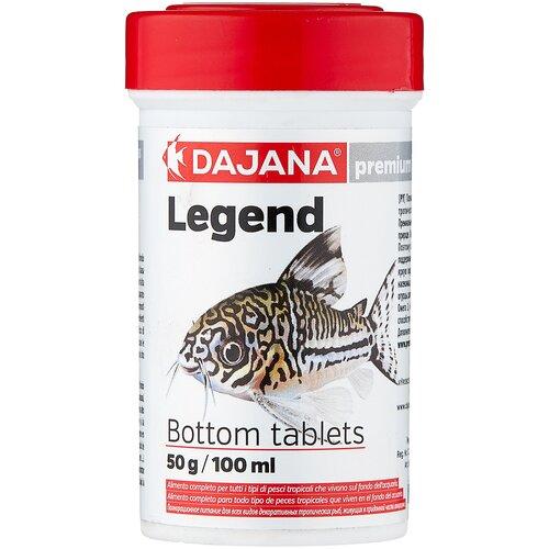 Фото - Сухой корм для рыб Dajana Pet Legend Bottom Tablets 100 мл 50 г сухой корм для рыб dajana pet betta 100 мл 25 г