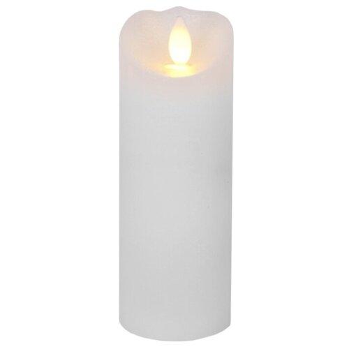 свеча светодиодная пластиковая с эффектом мерцающего пламени высота 8 5 см цвет бежевый 063 88 Свеча светодиодная с эффектом мерцающего пламени с таймером, высота - 15 см, цвет - белый, 068-44