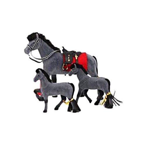 Купить Play Smart Сивка-Бурка лошадка с жеребятами (2547/2548) серый, Транспорт для кукол
