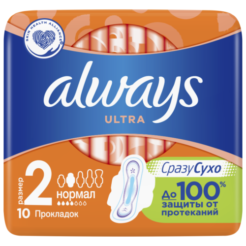 Фото - Always прокладки Ultra Normal Plus 10 шт. always прокладки ultra super plus 16 шт