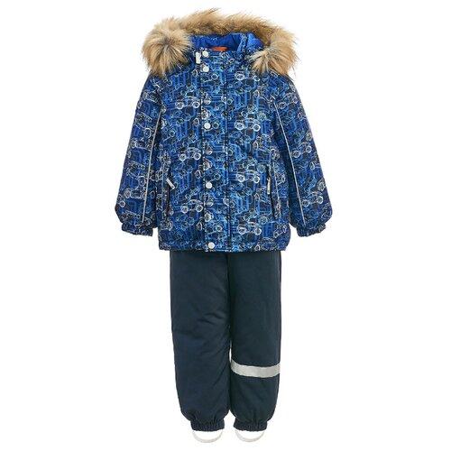 Купить Комплект с полукомбинезоном KISU размер 92, индиго/темно-синий, Комплекты верхней одежды