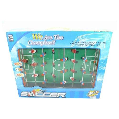 Настольный футбол Наша Игрушка игровое поле 28*49 см, наклейка, мяч 2 шт, присоски 4 шт, коробка (2073)
