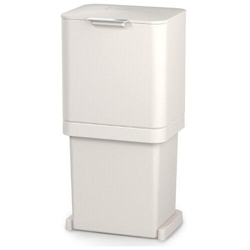 Контейнер для мусора с двумя баками Totem Pop 60 л белый контейнер для мусора с прессом titan 20 л серый joseph joseph 30039
