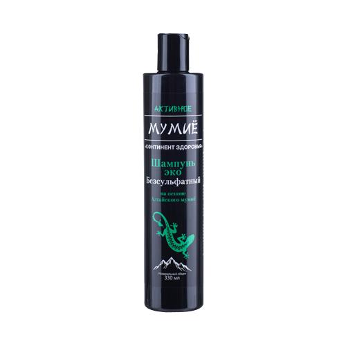 Фото - Активное Мумиё эко-шампунь для волос безсульфатный, 330 мл активное мумиё увлажняющий шампунь для поврежденных волос 330 мл