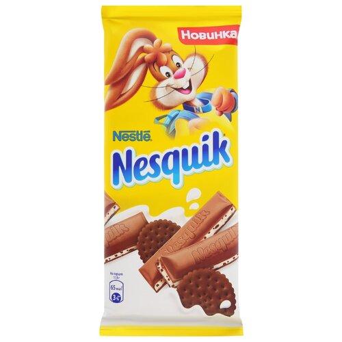 Шоколад Nesquik молочный с молочной начинкой и какао-печеньем, 25% какао, 95 г