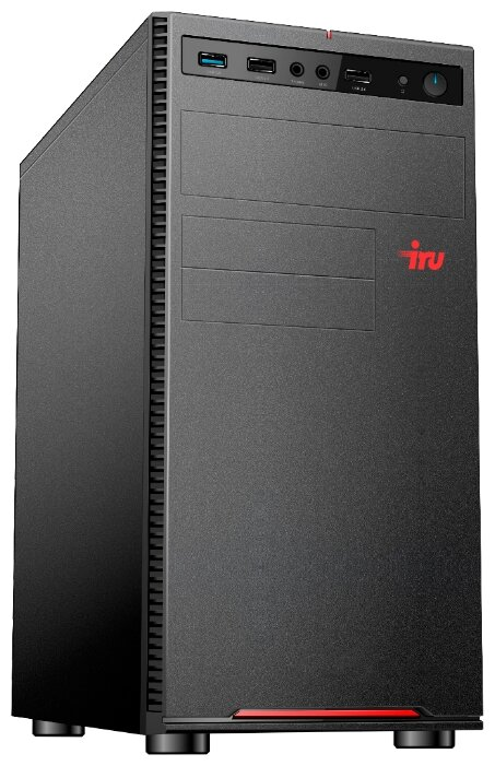 Настольный компьютер iRu Home 313 (1469083) Midi-Tower/Intel Core i3-10100F/8 ГБ/240 ГБ SSD/NVIDIA GeForce GT 710/Windows 10 Home