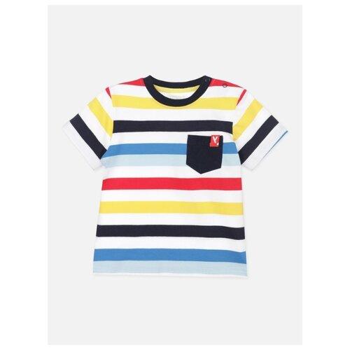 Футболка playToday размер 92, красный/желтый/синий комбинезон playtoday размер 56 синий красный желтый