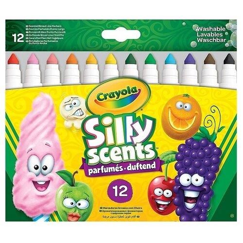цена на Crayola Фломастеры ароматизированные Silly Scents 12 шт. (58-8337)