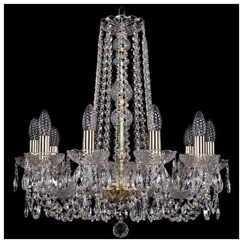Люстра Bohemia Ivele Crystal 1402 1402/10/195/h-58/G, 400 Вт bohemia ivele crystal 1402 1402 16 400 g 640 вт