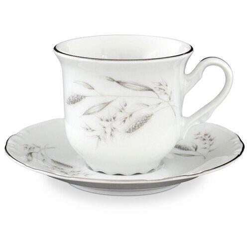 Thun1794 Чайная пара Constance Серебряные колосья 230 мл белый/серый