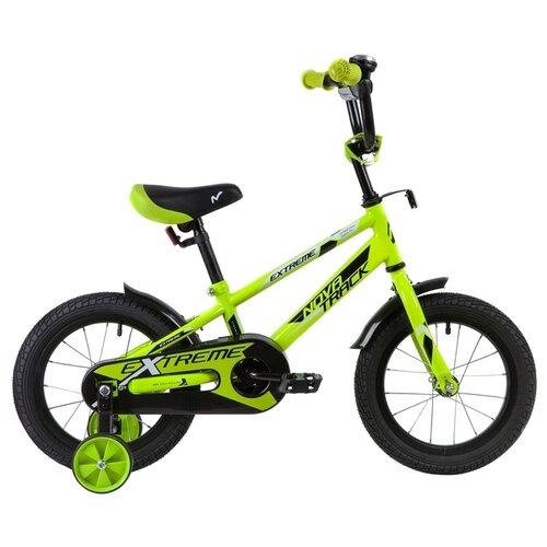 Детский велосипед Novatrack Extreme 14 (2019) зеленый (требует финальной сборки) novatrack extreme 24 черный