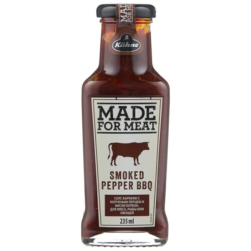 Фото - Соус Kuhne Smoked pepper BBQ, 235 мл соус kuhne sriracha hot chili 235 мл