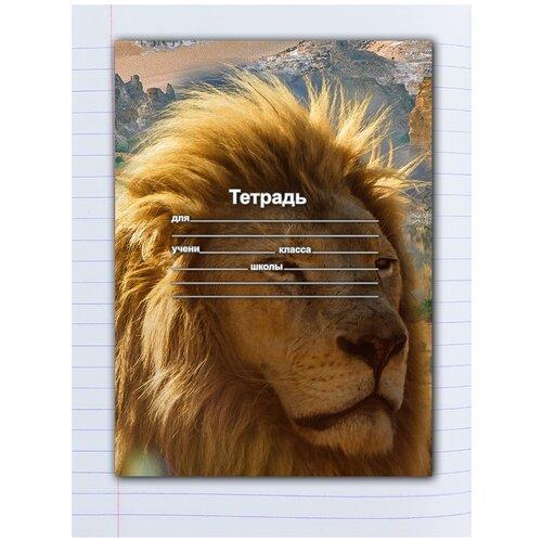 Купить Набор тетрадей 5 штук, 12 листов в линейку с рисунком Гордый лев, Drabs, Тетради