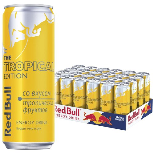 Фото - Энергетический напиток Red Bull тропические фрукты, 0.355 л, 24 шт. энергетический напиток solar power 0 45 л 6 шт