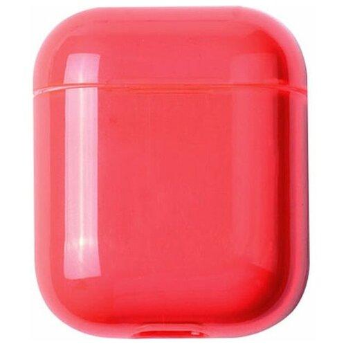 Чехол для наушников Eva Apple AirPods 1/2 - Прозрачно-Красный (CBAP24TRR)