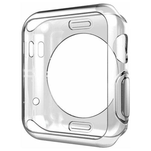 Чехол силиконовый Eva для Apple Watch 44 mm - Прозрачный (ADC005T)