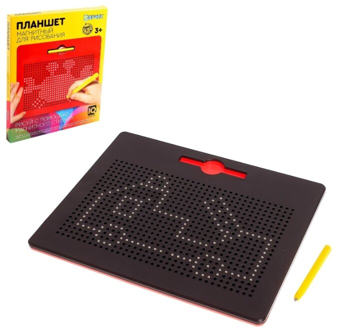 Купить Планшет обучающий «Магнитное рисование», 714 отверстий, цвет чёрный 4889179 по низкой цене с доставкой из Яндекс.Маркета