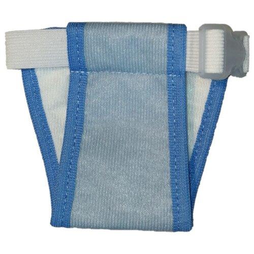 Подгузники для собак OSSO Fashion Absorb Размер L 40 см голубой 1 шт. голубой