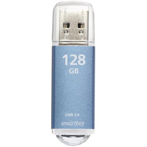 Фото - Флешка SmartBuy V-Cut USB 2.0 128 GB, синий флешка smartbuy v cut usb 2 0 4 gb синий