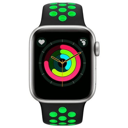 Умные часы BandRate Smart SX1818 серебристый/зеленый
