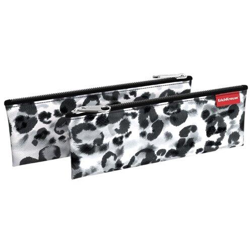 Купить ErichKrause Пенал-конверт Grey Leopard (49007) серый, Пеналы