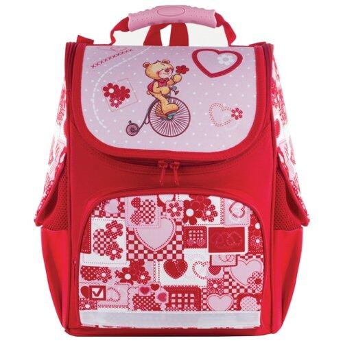 Купить BRAUBERG Ранец Style Мишка ХИТ (225317), красный, Рюкзаки, ранцы