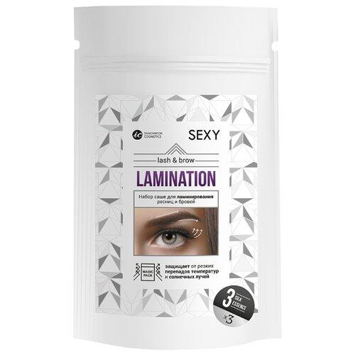 Innovator Cosmetics Набор саше с составом №3 Silk Essence для ламинирования ресниц и бровей Sexy Lamination белый
