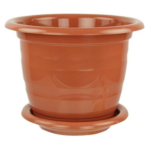 Горшок Альтернатива Виола, 23х17.5 см коричневый