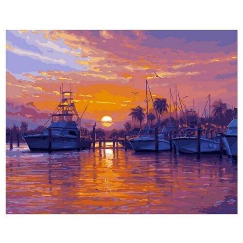 Картина по номерам GX 33139 Тропическая бухта катеров 40*50