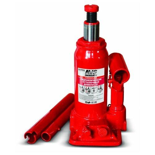 Фото - Домкрат бутылочный гидравлический AVS HJ-B2000 (2 т) красный домкрат avs hj b10000 10т 236 476мм a78639s